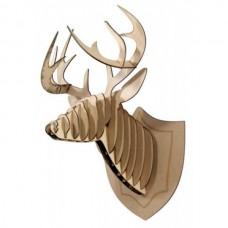 Cabeça de Cervo - Escultura 3D - MDF