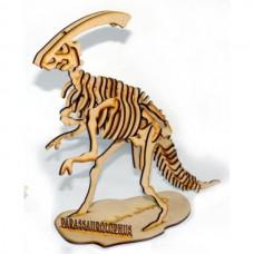 Quebra cabeça 3D - Parassaurolophus - Dinossauro em MDF