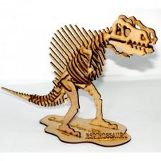 Quebra cabeça 3D - Spinossauro - Dinossauro em MDF