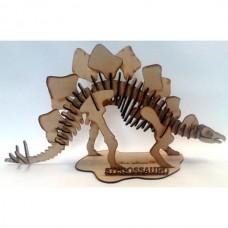 Quebra cabeça 3D - Stegossauro - Dinossauro em MDF
