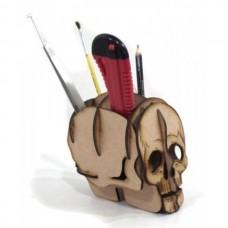 Porta Treco Caveira MDF - Quebra cabeça 3D