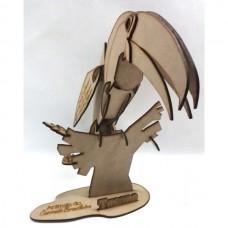Quebra cabeça 3D - Tucano em MDF
