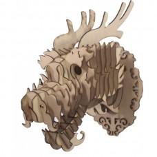 Dragão Chinês - Escultura 3D - MDF
