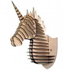 Cabeça de UNICORNIO - Escultura 3D - MDF
